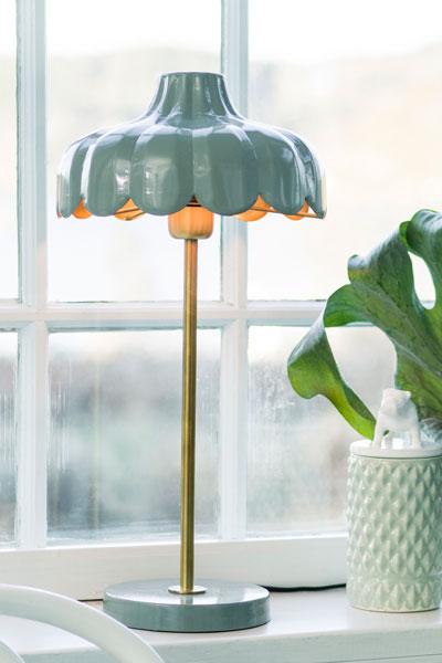 Wells bordslampa grön