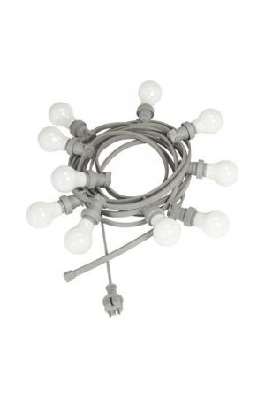 Ljusslinga Bright Light Grey, inkl 10 st OPAL LED lampor