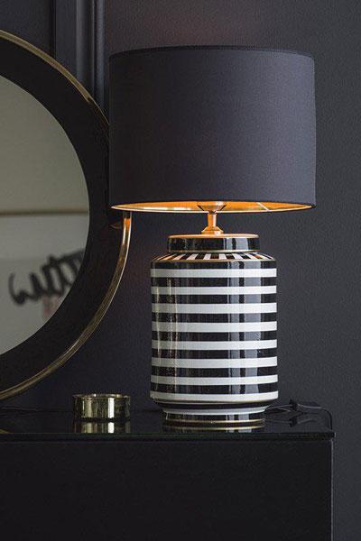Bordslampa Gatsby Skärm Sara Metallinsida Guld