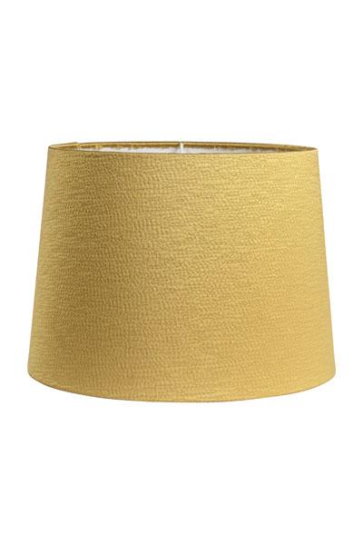 Lampskärm Sofia Sidenlook Glint Guld. Lampskärm Sofia i ett underbart tyg med siden look. Skärmen finns i flera olika färger och storlekar. Lampskärmen ger ett behagligt sken och är lätt att matcha med olika lampfötter. Lampskärmen har ett E27 ringfäste.