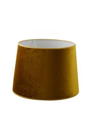Lampskärm Sammet Roma Guld. Lampskärm i guldfärgad sammet från Hallbergs. Skärmen finns i flera storlekar och har en ljus insida för bättre ljus. Lampskärmen har E27 ringfäste.