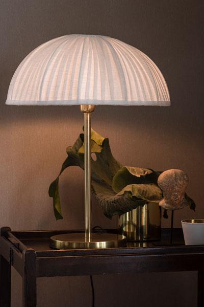 Bordslampa Celina Guld Skärm Lovis Vit